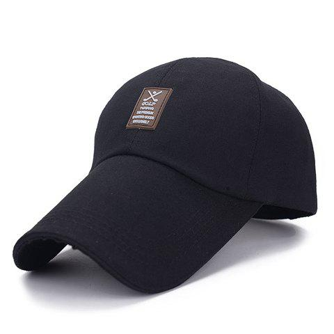 Stylish Patch Rubber Embellished Solid Color Visor For Men