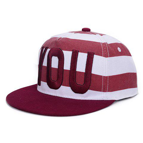 Chic Letter Embroidery Horizontal Stripe Pattern Baseball Cap For Women