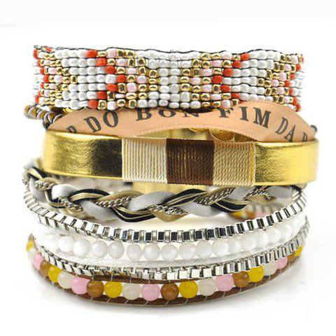 Ethnic Beads Weaved Bracelet For Women