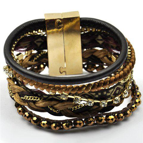 Vintage Bead Layered Bracelet For Women - AS THE PICTURE