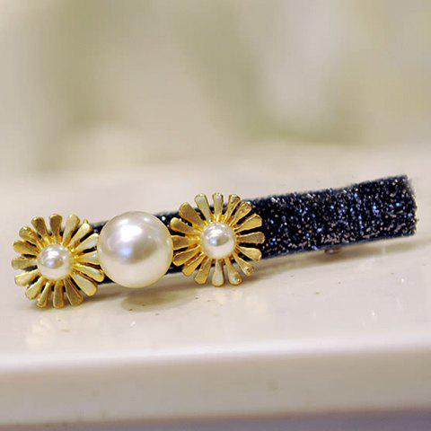 Delicate Faux Pearl Daisy Women's Hairpin - COLORMIX
