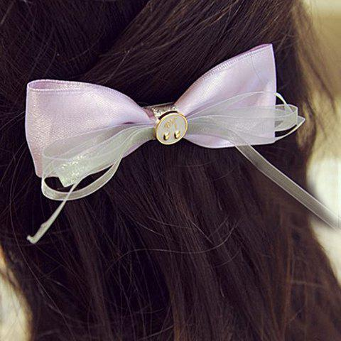 Sweet Button and Bow Women's Hairgrip - LIGHT PURPLE