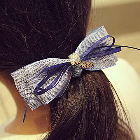 Graceful Rhinestone Bow Women's Hairgrip - COLORMIX