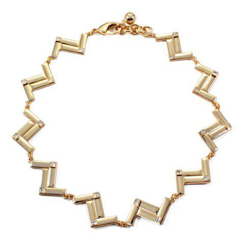 Simple Pure Color Chain Women's Necklace - GOLDEN