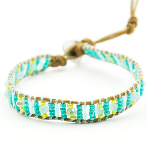 Sweet Beaded Women's Bracelet - GREEN