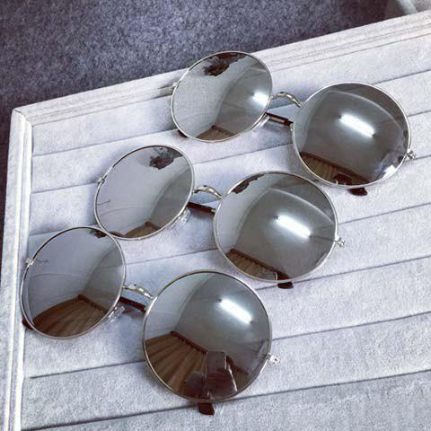 Chic Vintage Alloy Full Rounded Frame Womens SunglassesAccessories<br><br><br>Color: BLACK