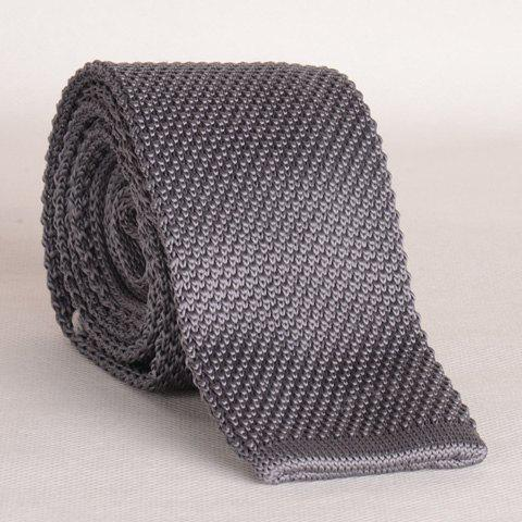 Stylish Gray Men's Knitted Neck Tie - GRAY