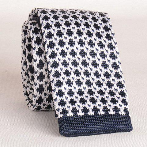Stylish Mesh Pattern Men's Knitted Neck Tie - CADETBLUE