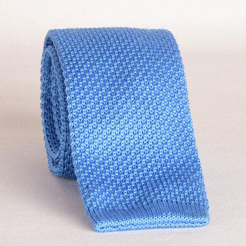 Stylish Light Blue Knitted Neck Tie For MenAccessories<br><br><br>Color: LIGHT BLUE