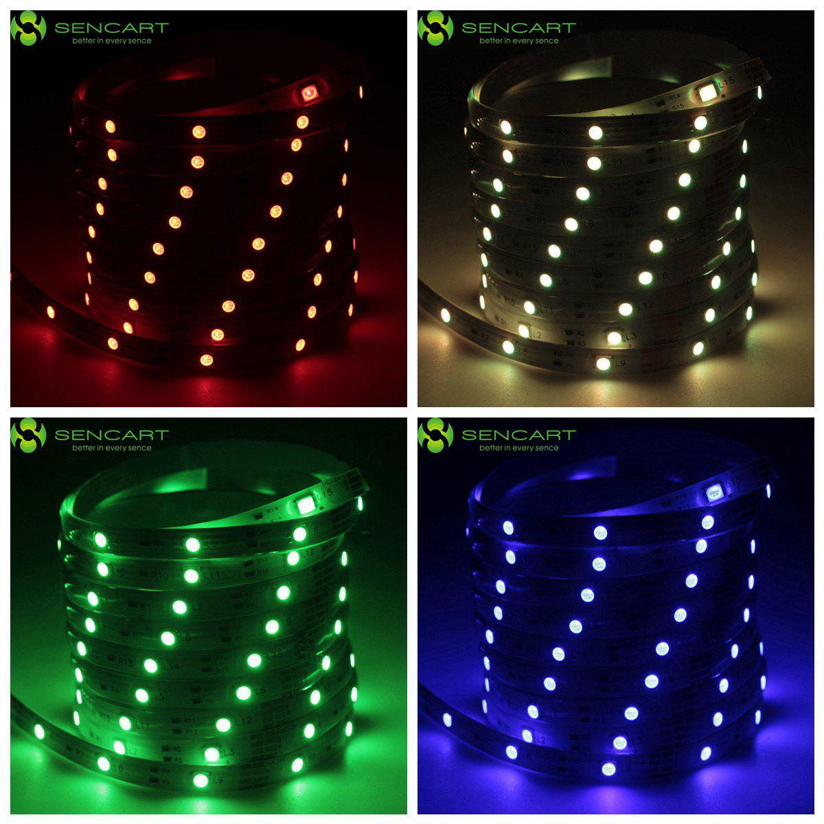 SENCART 2M 12W RGB 720LM 60 x SMD 5050 Waterproof Flexible LED Light Strip ( DC 12V ) - RGB COLOR