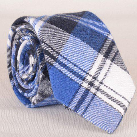 Stylish Tartan and Twill Pattern Men's Tie - CHECKED