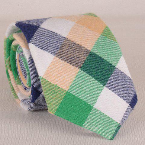 Stylish Multicolor Checked Pattern Tie For Men