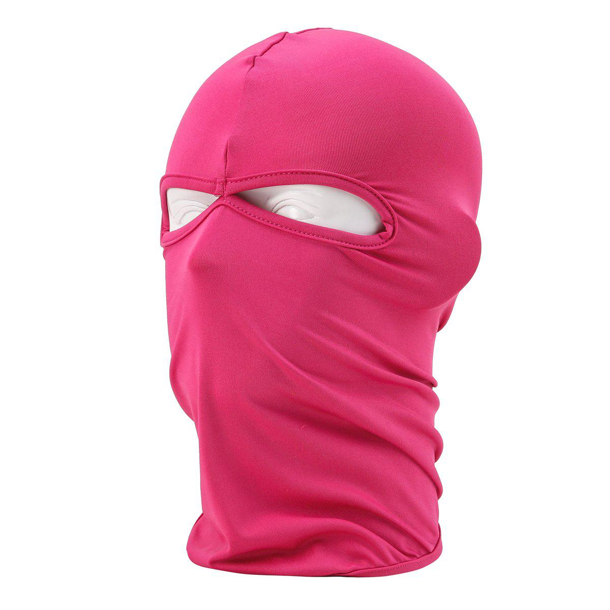 Sun Protective Wrapped Head Cap Mask with Double Orifice for Outdoor Cycling and Fishing etc. - DEEP PINK