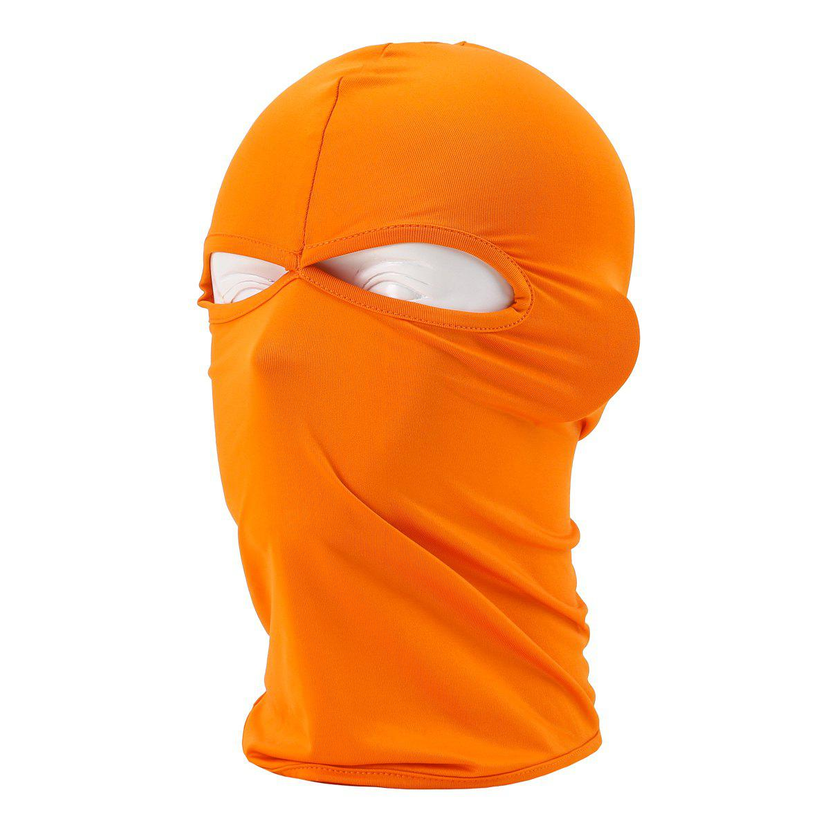 Sun Protective Wrapped Head Cap Mask with Double Orifice for Outdoor Cycling and Fishing etc. - ORANGE