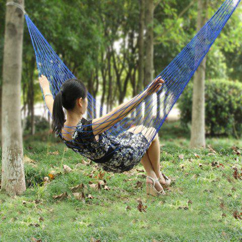 ATA32 Portable Durable Nylon Mesh Swing Hammock for Outdoor Camping - BLUE