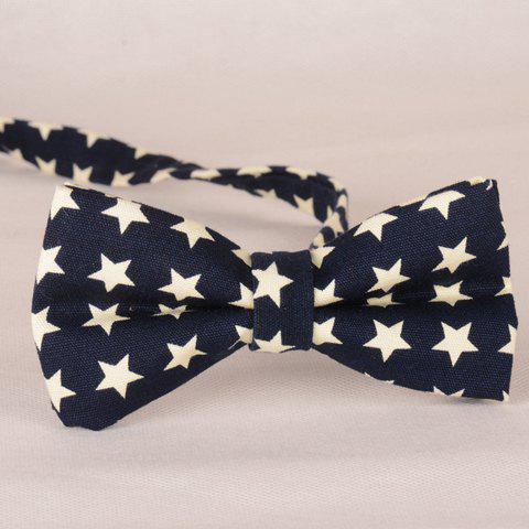 Stylish Fulled Five-Pointed Stars Pattern Men's Bow Tie - PURPLISH BLUE
