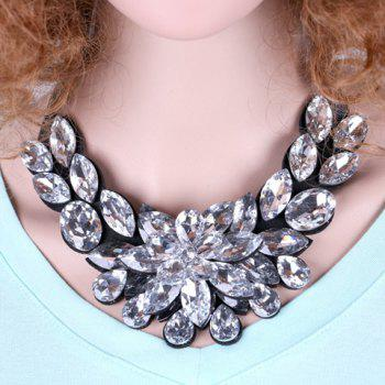 Delicate Luxury Rhinestone Flower Lace Up Sweater Chain Necklace For Women