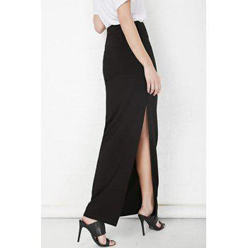 Plus Zellie Maxi Skirt With Slit - M M