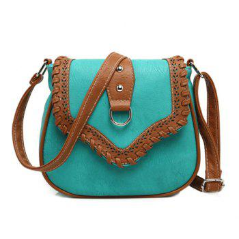 Hollow Out Whip Stitch Crossbody Bag