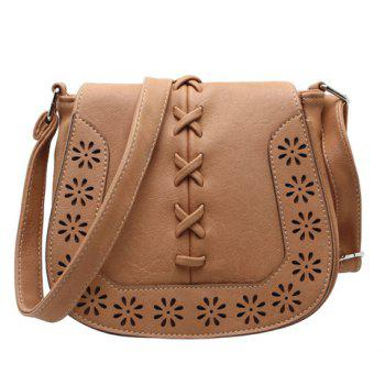 Hollow Flower Pattern Weaving Crossbody Bag