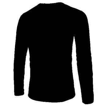 Laconic Round Neck Special Pocket Zipper Fly Solid Color Long Sleeves Men's Slim Fit Sweatshirt - M M
