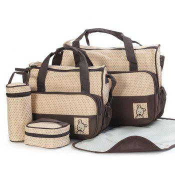 Casual Color Matching and Bear Cub Design Diaper Bag For Women