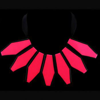 Stylish Chic Fluorescence Color Sweater Chain Necklace For Women - RED