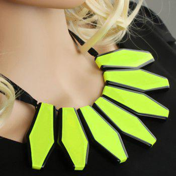 Stylish Chic Fluorescence Color Sweater Chain Necklace For Women - YELLOW