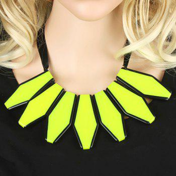 Stylish Chic Fluorescence Color Sweater Chain Necklace For Women - YELLOW YELLOW