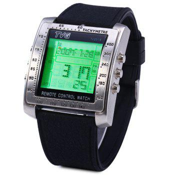 TVG TV2018 TV DVD Remote Control Watch LED Wristwatch with Calendar Alarm Stopwatch Function
