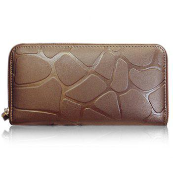 Fashion Solid Color and Zipper Design Wallet For Women - GOLDEN GOLDEN