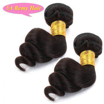 Fashion Loose Wave Natural Black 2 Pieces/Lot 5A Women's Indian Remy Hair Weave - 14INCH*14INCH 14INCH*14INCH