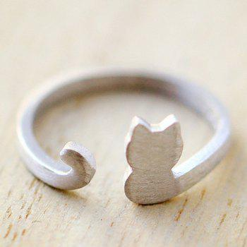 Cat Opening Ring - SILVER ONE-SIZE