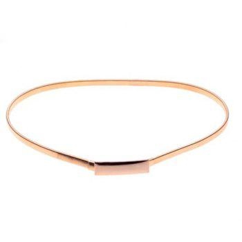 Chic Rectangle Embellished Alloy Elastic Waistband For Women