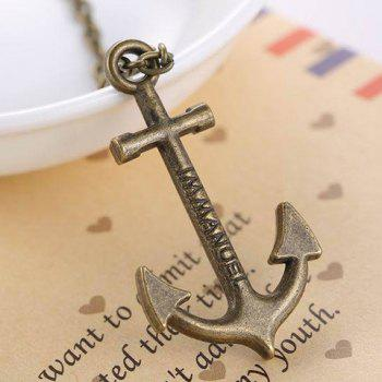 Delicate Anchor Men's Pendant -  BRONZE COLORED
