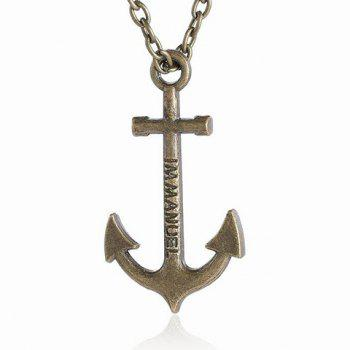 Delicate Anchor Men's Pendant