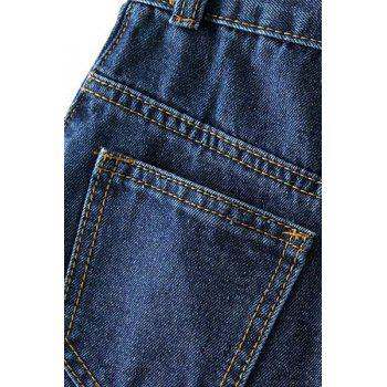 Stylish High-Waisted Packet Buttocks Single-Breasted Women's Long Denim Skirt - L L