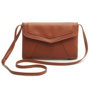 Buy Simple Style Candy Color Envelope Design Crossbody Bag Women BROWN