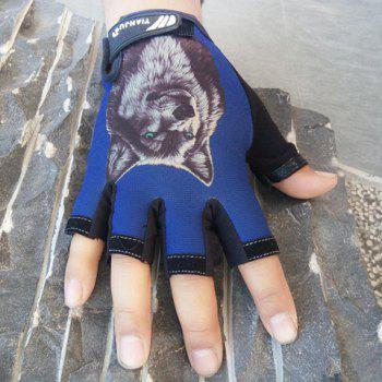 Pair of Fashion Animal Printed Sun Protection Gloves For Men