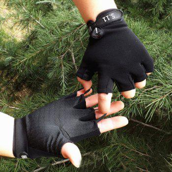Pair of Stylish Numbers Shape Embellished Fingerless Gloves For Men