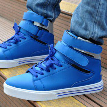 Stylish High-Top and  Design Casual Shoes For Men - BLUE BLUE