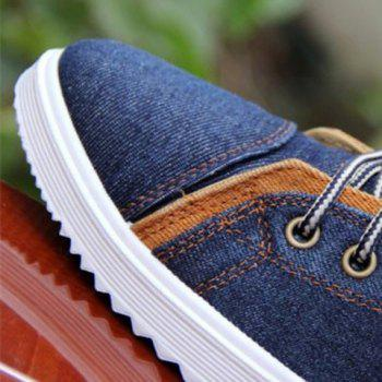 Retro Denim and Flag Design Casual Shoes For Men - 41 41