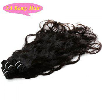 5A Indian Remy Hair Towheaded Wavy Natural Black 3 Pieces/Lot Human Hair Weft For Women - BLACK BLACK