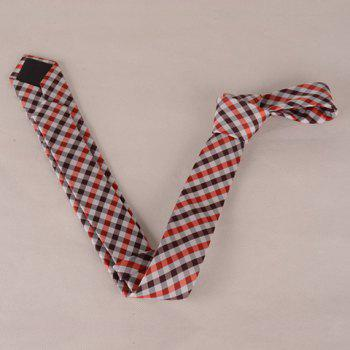 Stylish Concise Tartan Pattern Men's Tie -  CHECKED