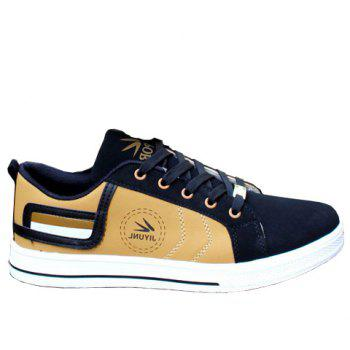 Stylish Color Block and Letters Design Casual Shoes For Men - GOLDEN 43
