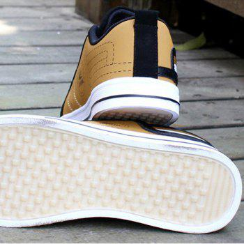 Stylish Color Block and Letters Design Casual Shoes For Men - GOLDEN GOLDEN