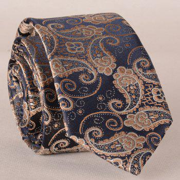 Stylish Fulled Paisley Embroidery Jacquard Men's Tie - ROSE GOLD ROSE GOLD