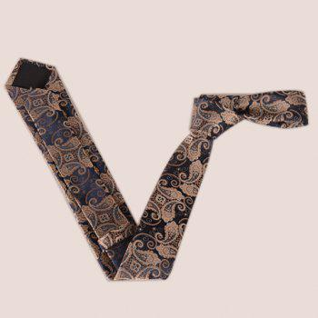 Stylish Fulled Paisley Embroidery Jacquard Men's Tie -  ROSE GOLD