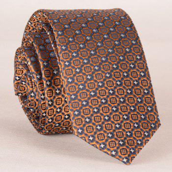 Stylish Fulled Embroidery Jacquard Men's Tie - ROSE GOLD ROSE GOLD