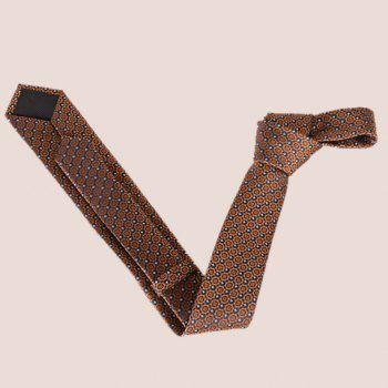 Stylish Fulled Embroidery Jacquard Men's Tie -  ROSE GOLD